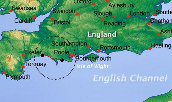 Carte Angleterre Cote Sud.Cote Jurassique Du Sud D Angleterre Sejour De Randonnee En